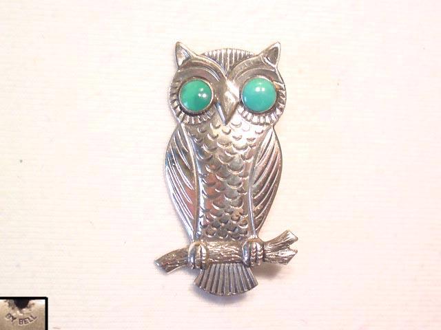 Cute Bell Owl Pin