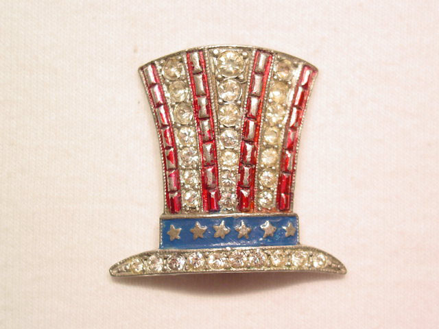 Wonderful Old Uncle Sam Hat Pin