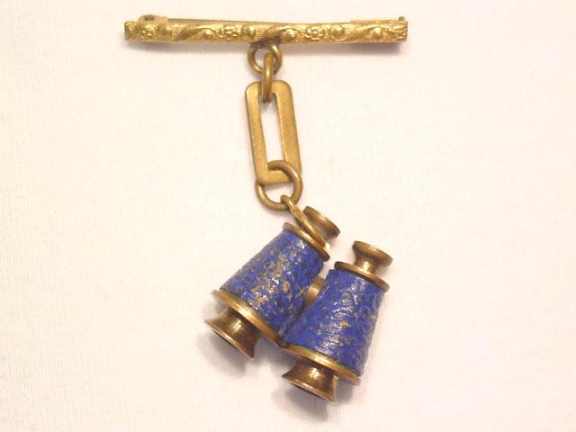 Vintage French Stanhope Binoculars Pin