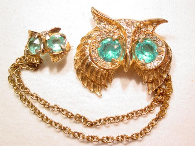 Beautiful Owl Sweater Pins