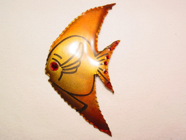 Giant Copper Colored Fish Pin