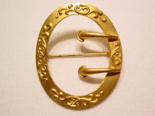 Art Nouveau Belt Buckle Sash Pin
