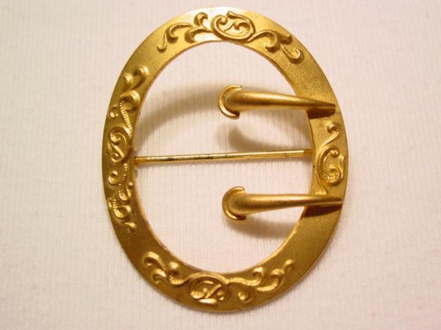 Art Nouveau Belt Buckle Sash Pin