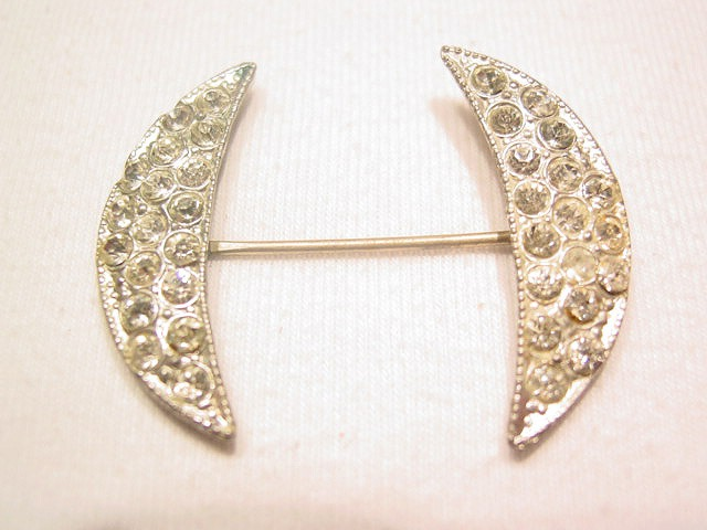 Art Deco Crescent Stick Pin