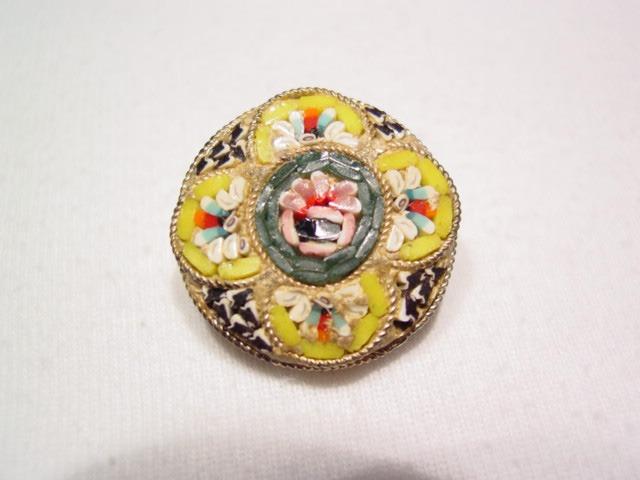 Floral Mosaic Pin