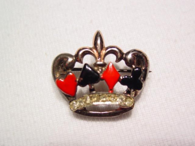 Crown Playing Card Pin