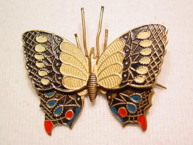 Enameled Spain Butterfly Pin