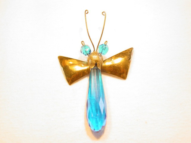 Beautiful Bright Blue Bug Pin