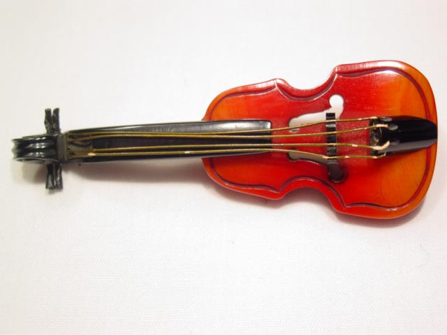 Bakelite Violin Pin