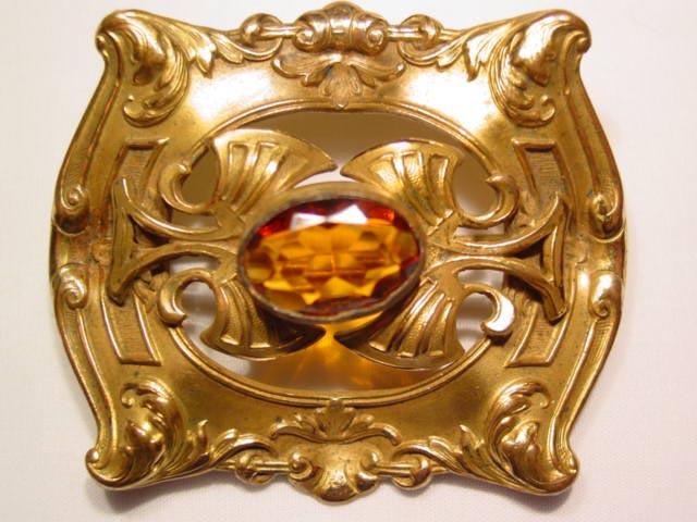 Beautiful Topaz-Colored Sash Pin