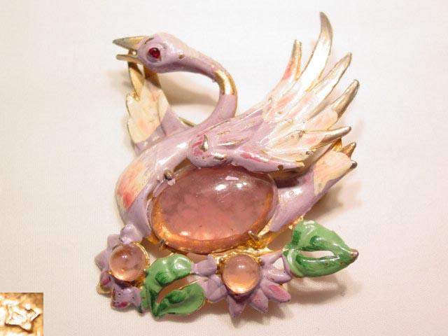 Star Lavender Swan Pin
