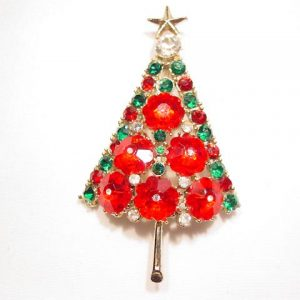 Red Flower Stone Christmas Tree