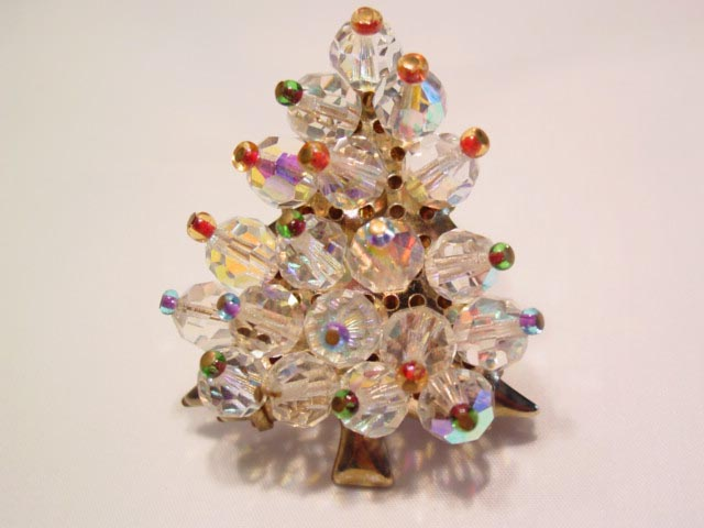 Aurora Borealis Bead Christmas Tree