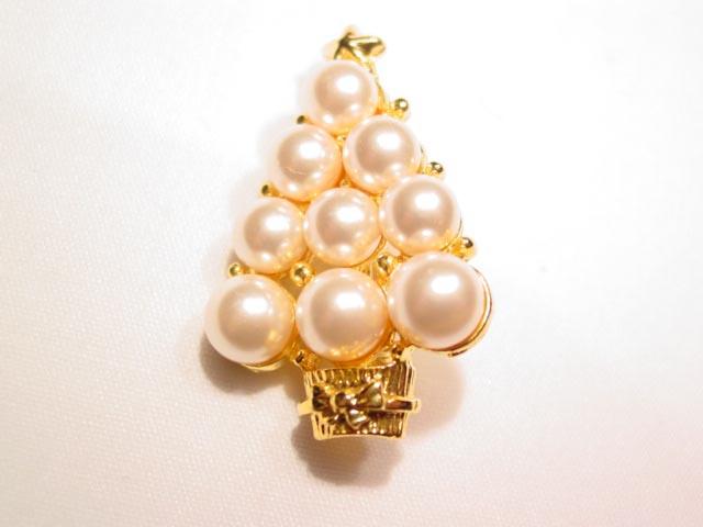 Imitation Pearl Christmas Tree Pin