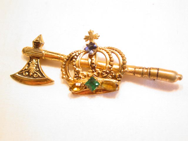 Crown and Axe Pin