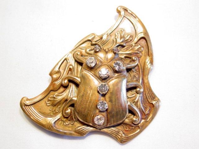Brass Beetle Sash Pin
