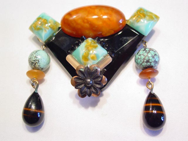 Beautiful Handcrafted Glass Pin