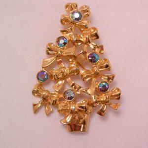 Avon Bows and Aurora Borealis Christmas Tree