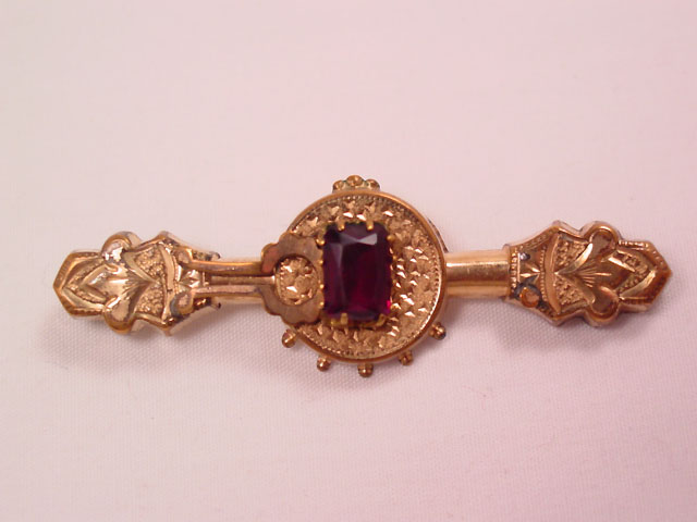 Asymmetrical Purple Rhinestone Bar Pin
