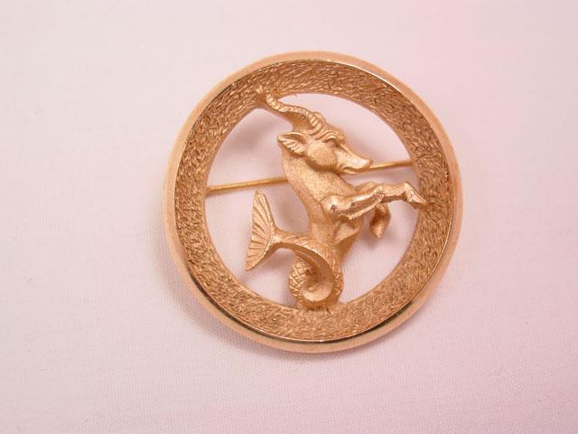 Trifari Capricorn Zodiac Pin