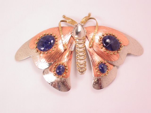Giant Hand-Wrought Butterfly Pin