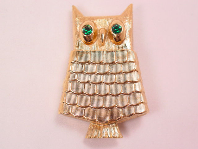 Avon Perfume Sachet Owl Pin