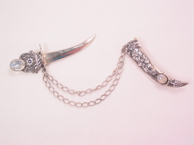 Sterling Sword and Scabbard Pin