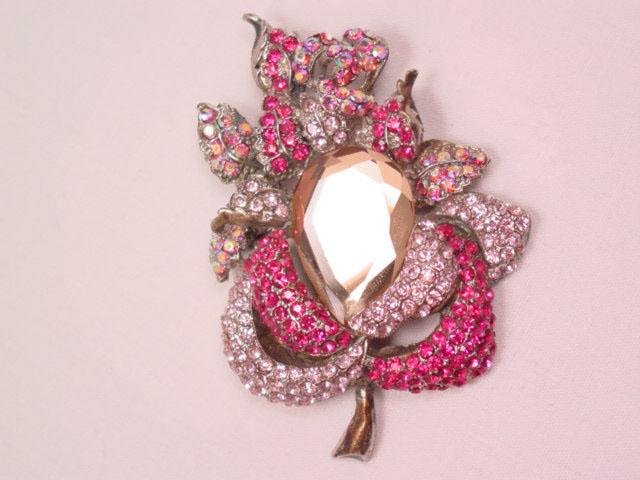 Bejeweled Rose Pin/Pendant