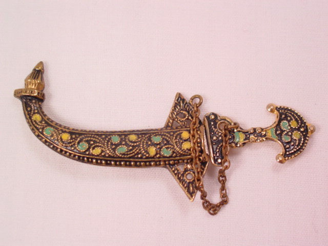 Spain Sword and Scabbard Pin