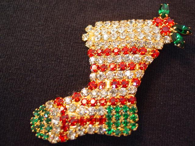 Dazzling Rhinestone Christmas Stocking