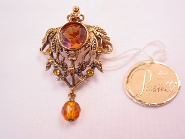 Topaz-Colored Pastelli/Royal of Pittsburgh Pin