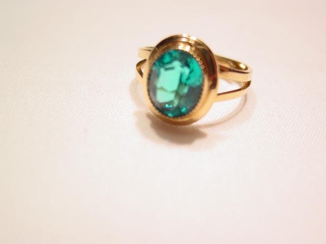 Beautiful Green-Blue Gold-Filled RingBeautiful Green-Blue Gold-Filled Ring