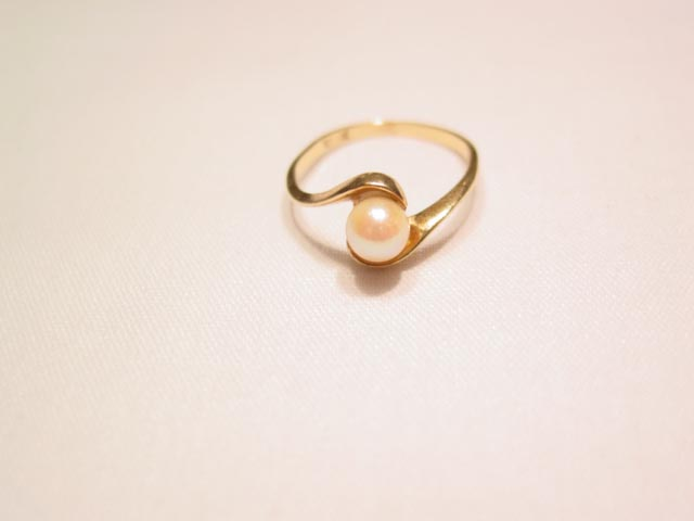 10K Cultured Pearl Ring