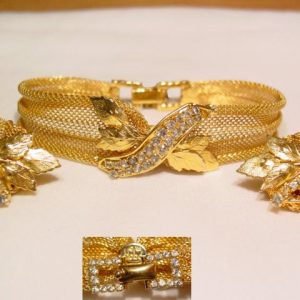 1965 Hobe Mesh Bracelet and Earrings Set