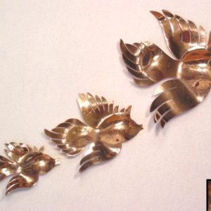 Sterling Lericle Fish Pin Trio