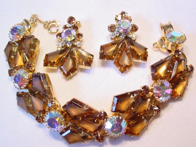 Topaz Kite-Shaped D&E (Juliana) Bracelet and Earrings Set