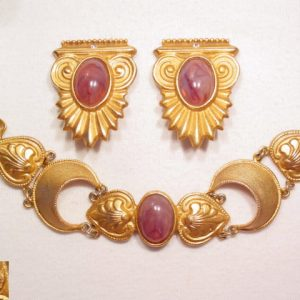 """""""Pisces"""" Etruscan Style Bracelet and Earrings"""