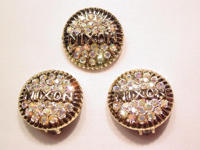 Waldman Nixon Aurora Borealis Pin and Earrings Set