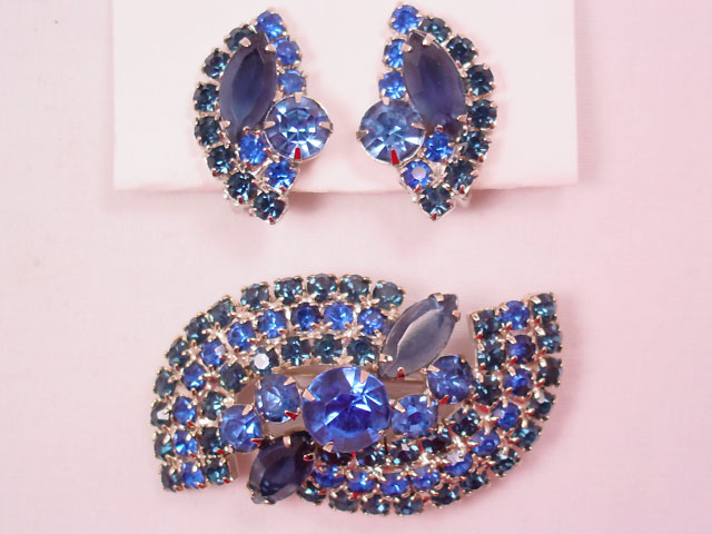 True Blue Pin and Earrings Set