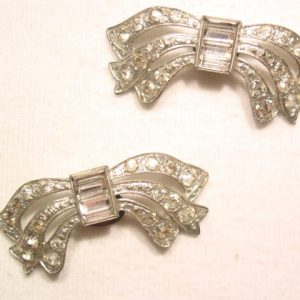 Rhinestone Bow Shoe Clips