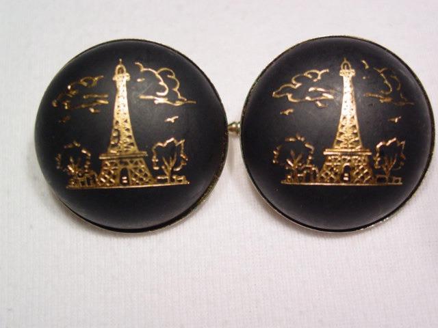 Damascene Eiffel Tower Cuff Links
