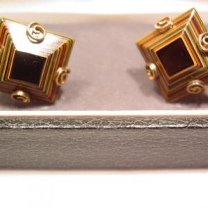 Unusual Layered Simmons Cuff Links from 1969