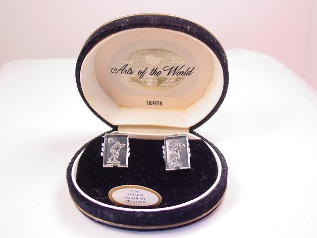 Arts of the World Crystal Greek Discus Thrower Swank Cuff Links